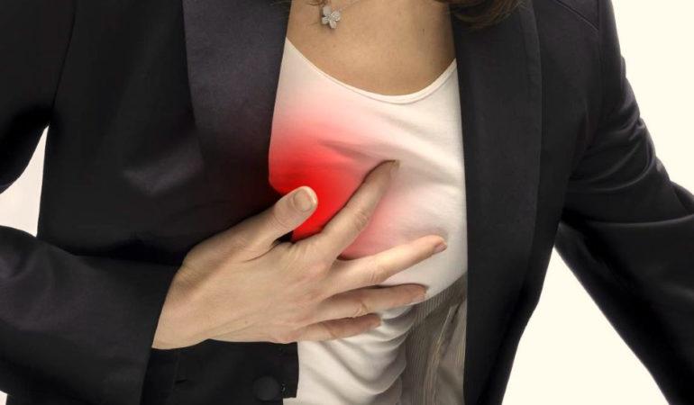 боль в грудине посередине