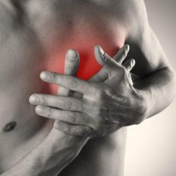 сильная боль в области сердца